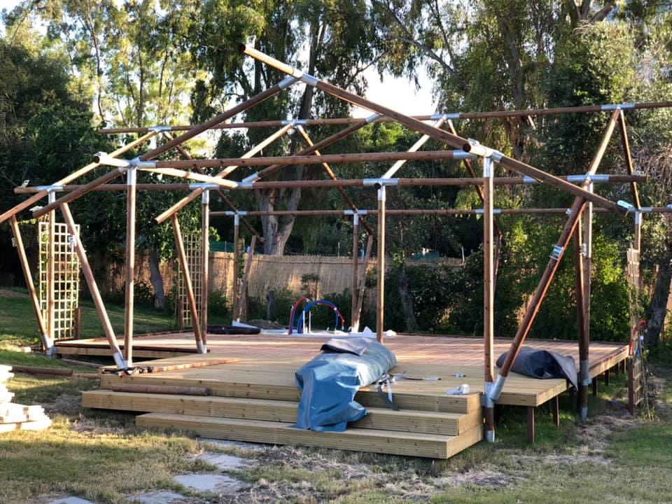 4 Luxe tenten geplaatst in Rhodes Griekenland.